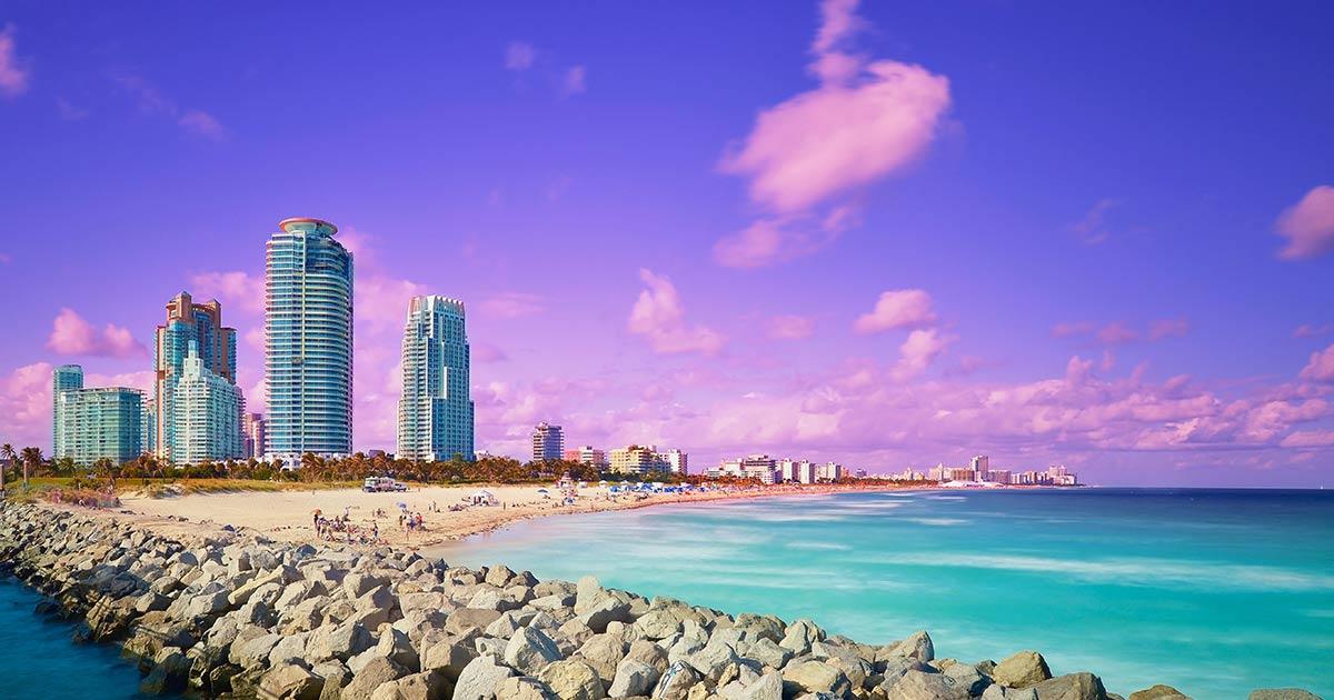 Väder och temperatur i Miami